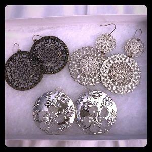 Earrings - set of 3!